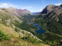 Overlooking the Swiftcurrent Valley