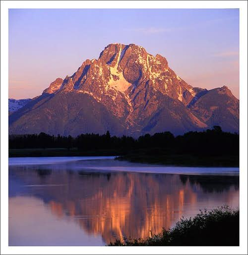 Mt. Moran at start of the day...