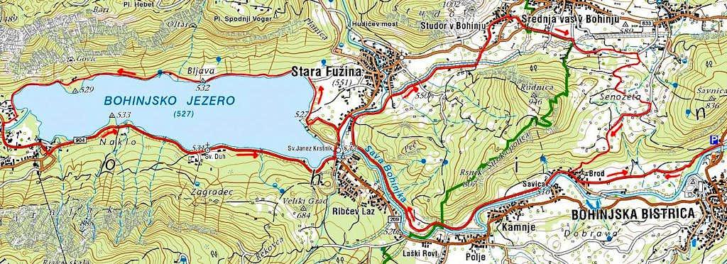 A suggested bike&hike in Bohinj
