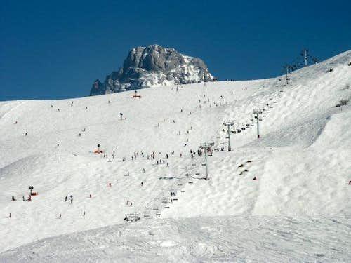 Pointe Percée from the ski...