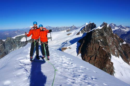 On the summit of Pollux (13425 ft / 4092 m)