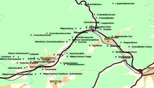 Map of the Rinntal /...