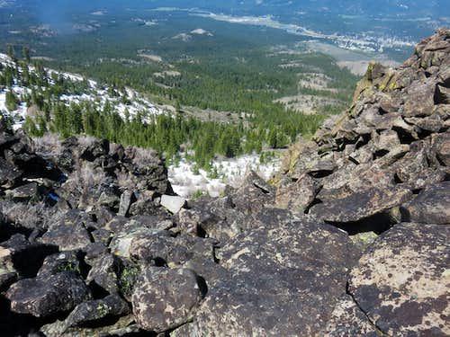 Portola seen from just below north summit