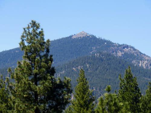 Smith Peak 7,693' seen from Beckwourth Peak 7,252'