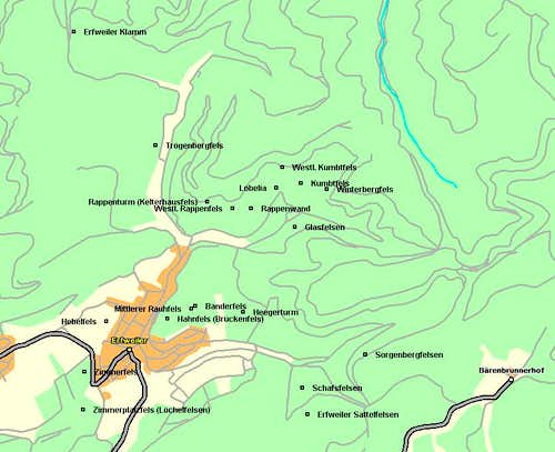 Map of the Erfweiler area of...