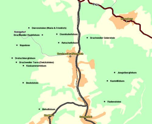 Map of the Bruchweiler /...