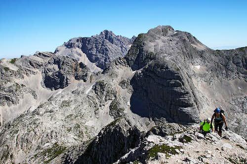 Reaching the summit of Bovski Gamsovec