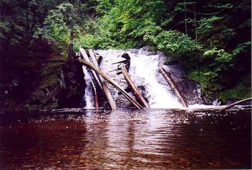 Slate River Falls, Baraga...