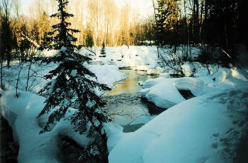 The wild Yellow Dog River in...