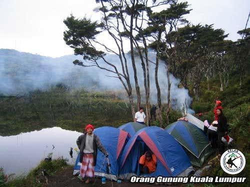 at the Telago Dewi camping...