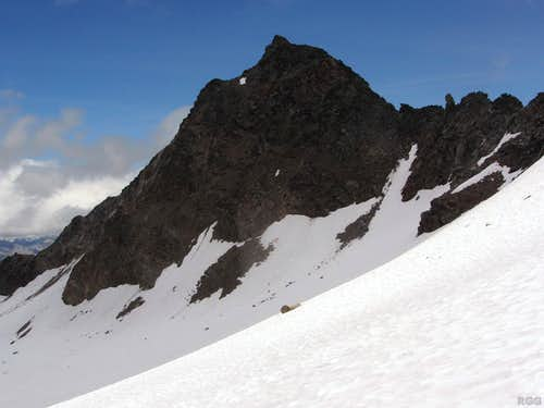 Muntpitschen, seen from near the saddle between Piz Sesvenna and Foratrida