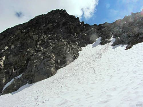 The final steps to the saddle between Foratrida and Piz Sesvenna