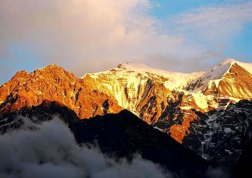 Sunset over Nilgiri or the...