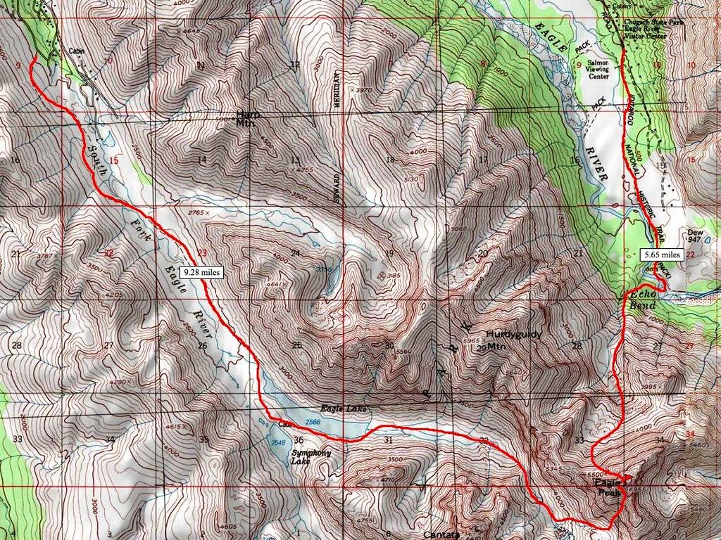 Eagle Peak Map