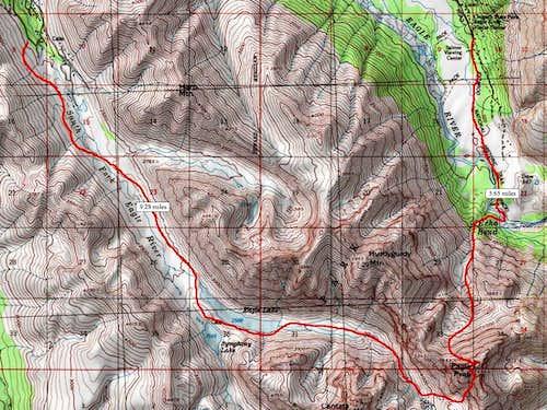 Eagle Peak Map