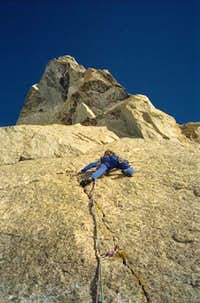 Tabou route. 3rd of 4th pitch...