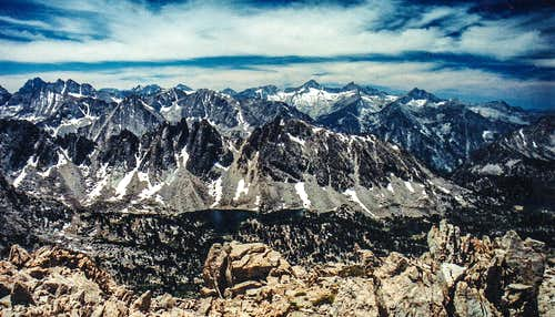 Kings Canyon High Sierra from Mt. Gould