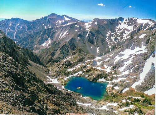 Burro Lake from Black Cat Peak