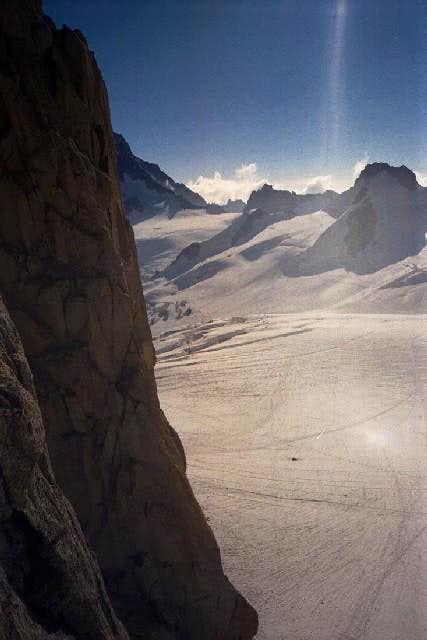 View to the Glacier du Géant...