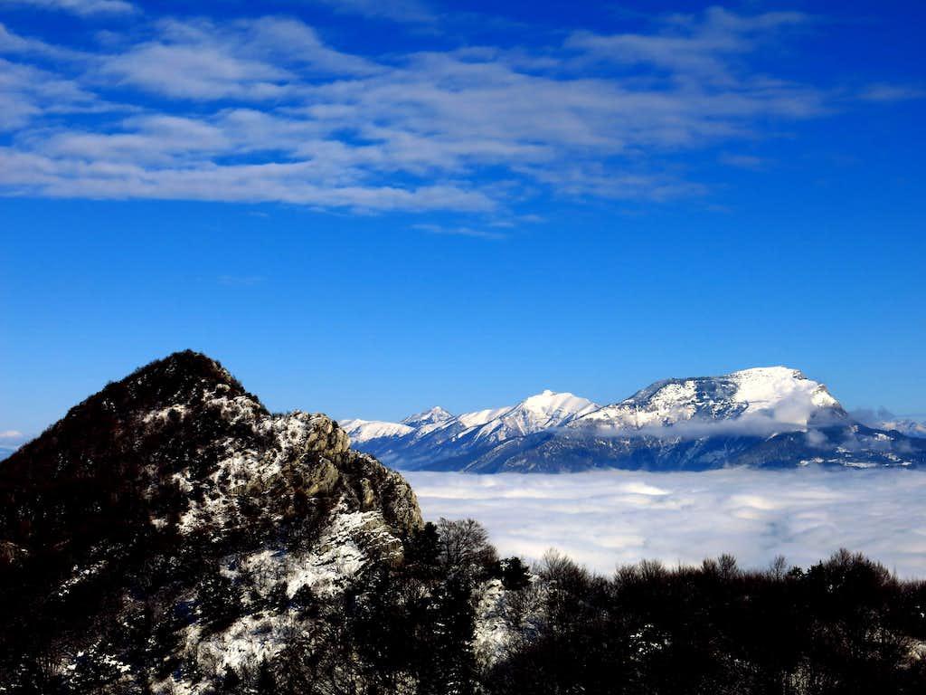 Cornetto Cronicello and Stivo from Monte Guil summit