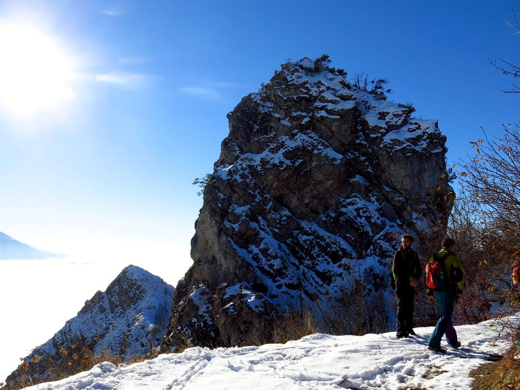 Hikers on Passo Rocchetta