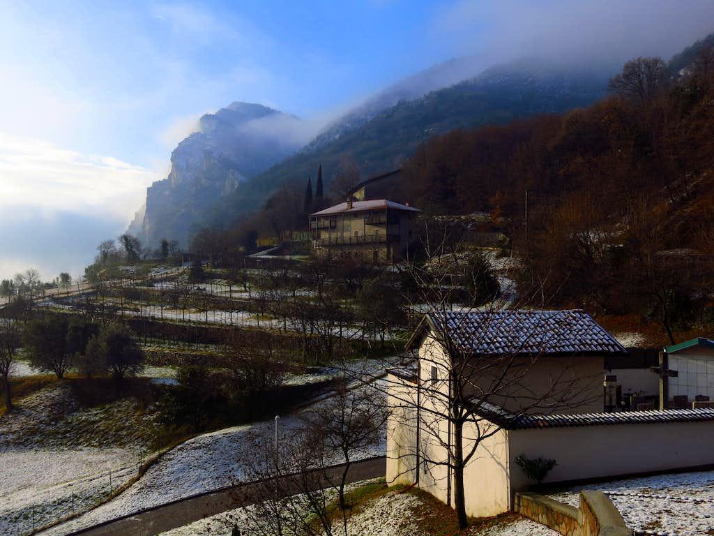 Village of Pregasina in the soft morning light