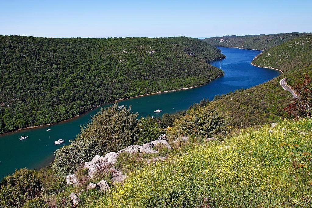 Limski kanal from Gradine