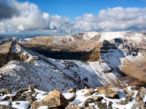 Priord Peak (foreground,...