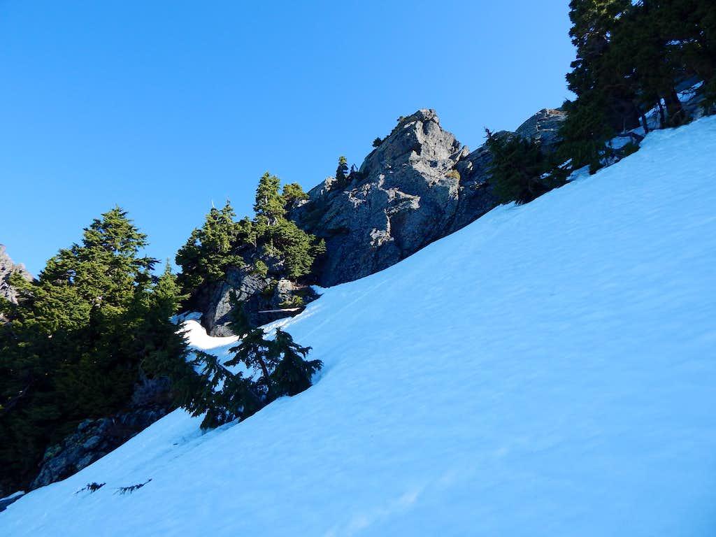Hermans Peak summit block from 5000'