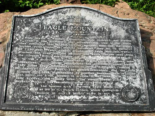 Eagle Mtn Summit Plaque