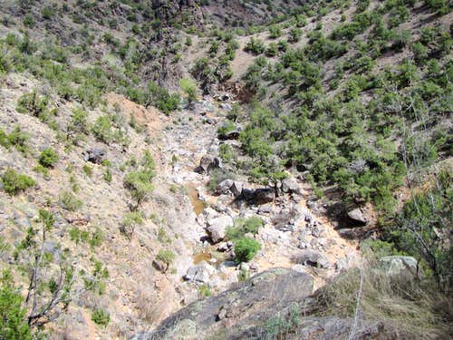 View from top of the First Waterfall