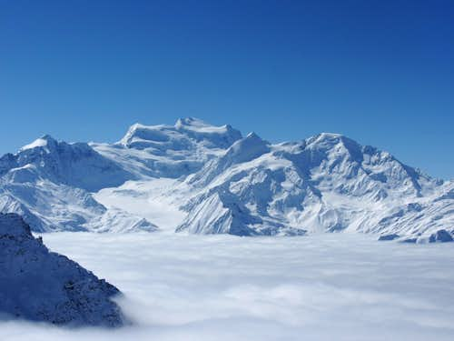 Grand Combin above the clouds