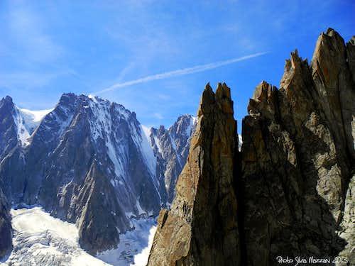 Les Droites North Face seen from Arete du Genèpi