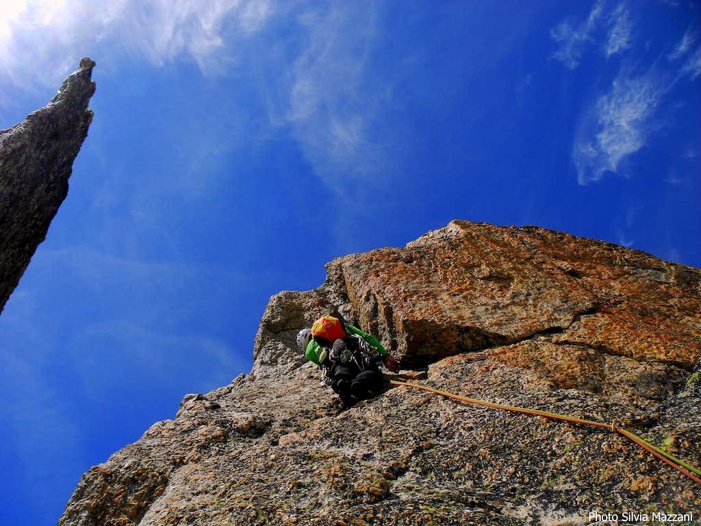 Arete du Génépi, near the summit