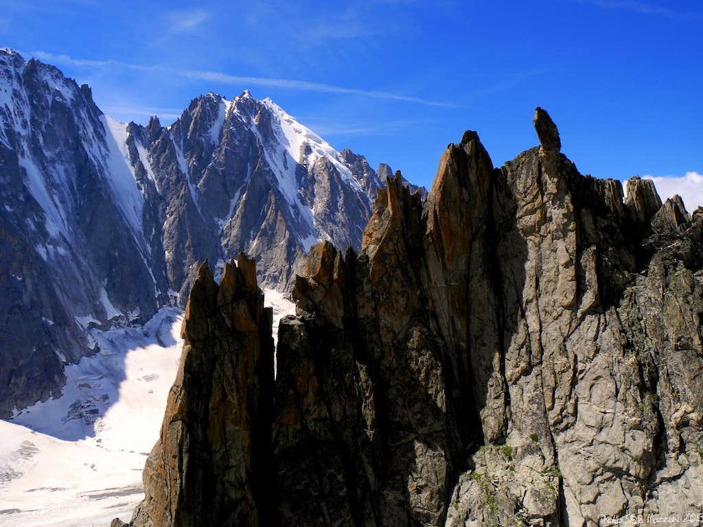 Beautiful summit pinnacles near Arete du Génépi