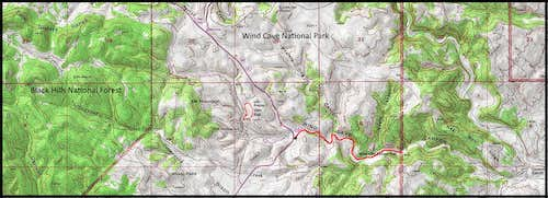 Wind Cave Canyon Map
