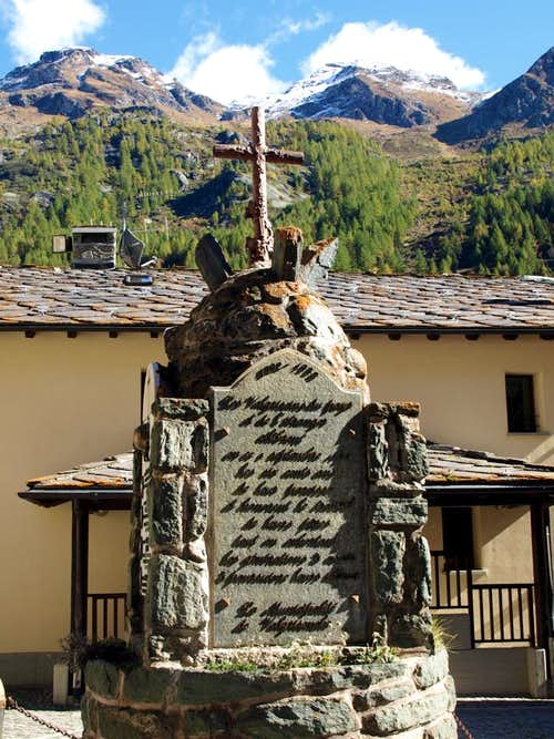 Valgrisenche Monument to the Fallen of the Wars 2015