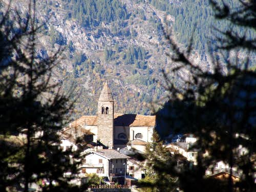 Valgrisenche Just above the Church & Municipality 2015