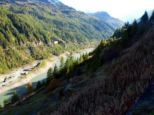 Valgrisenche Works into Beauregard Artificial Dam 2015