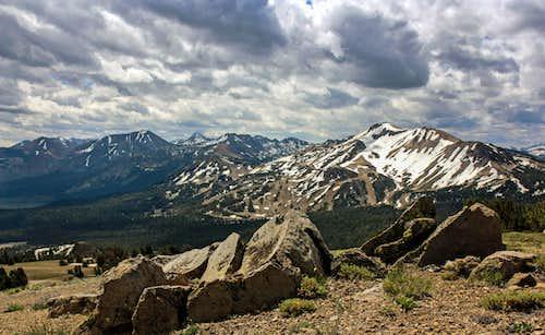 Mammoth Lakes Sierra from San Joaquin Ridge
