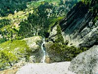 Looking down Yosemite Falls