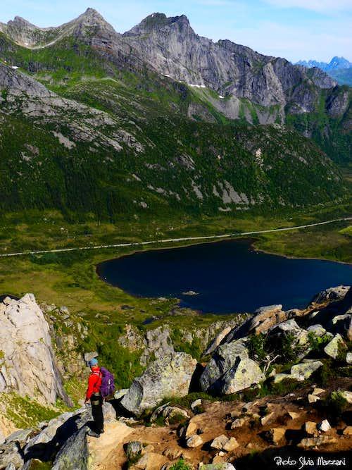 Along Glåmtinden descent route