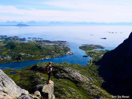 Girl enjoying the summit view