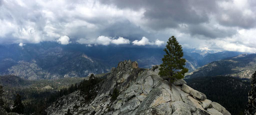 North facing summit panorama