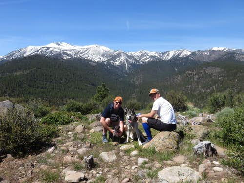The boys on the summit of Dry Pond Peak