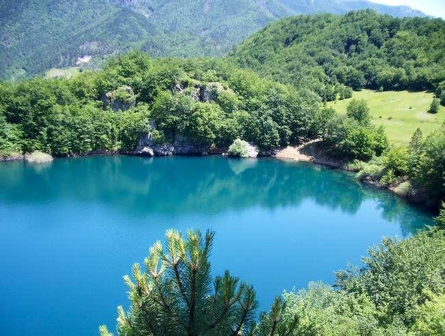 Tiny Babica lake NE of...