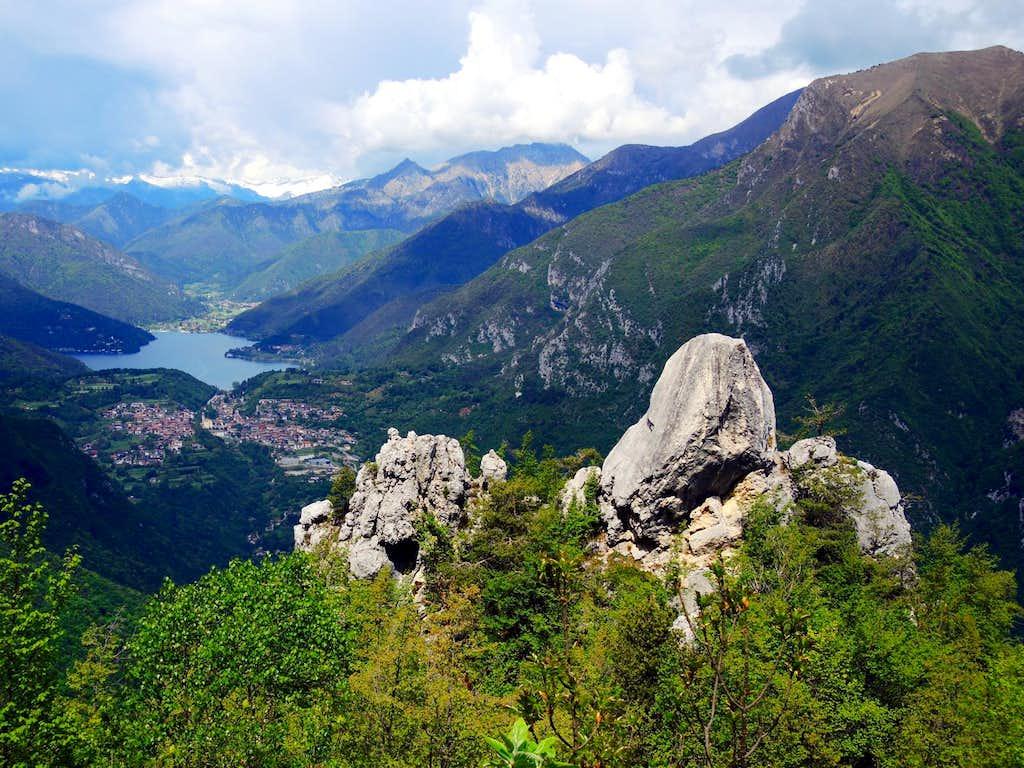 Lago di Ledro seen from Pregasina ridges