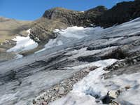 Swiftcurrent Glacier Showing Crevasses