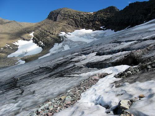Swiftcurrent Glacier Showing Crevasses