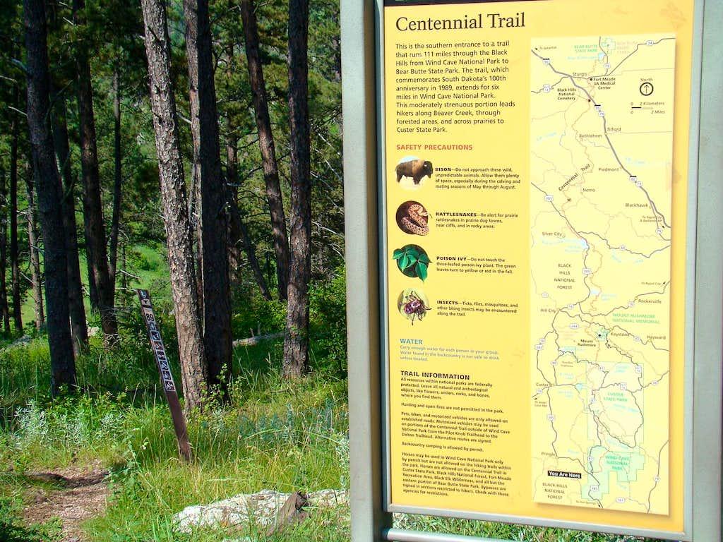Centennial Trailhead Sign